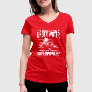 Under Water breathe under water - Women's Organic V-Neck T-Shirt by Stanley & Stella