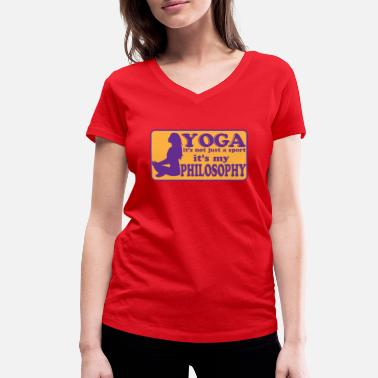 Life Energy Yoga Meditation Life Energy Sport - Women's Organic V-Neck T-Shirt