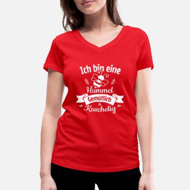 081cdace67cb Jag är en humpande bi, mysig och snygg - Ekologisk T-shirt med V