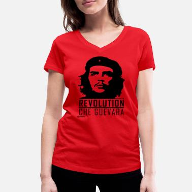 Che Guevara Revolutionary - Women's Organic V-Neck T-Shirt