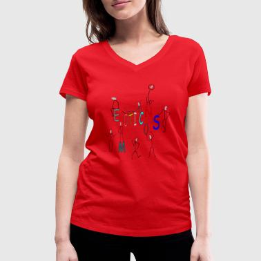 Emoticon emoticons - Women's Organic V-Neck T-Shirt by Stanley & Stella