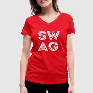 Hipster Swagger SWAG - Funny Swagger Shirt Vintage Gift - Camiseta ecológica mujer con cuello de pico de Stanley & Stella