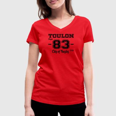Toulon city of rugby - T-shirt bio col V Stanley & Stella Femme