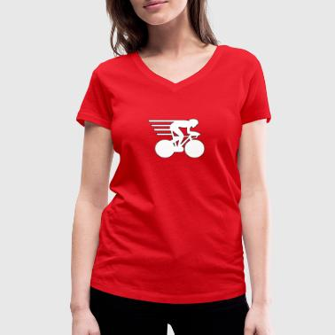 Time Trial T-shirt for timekeepers and racing drivers. - Women's Organic V-Neck T-Shirt by Stanley & Stella