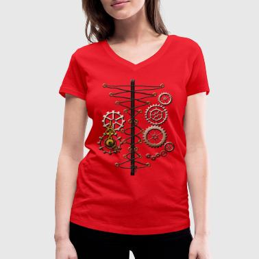 Corset corset and cogs - Women's Organic V-Neck T-Shirt by Stanley & Stella