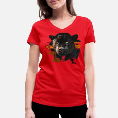 Panther Black Panther - Women's Organic V-Neck T-Shirt by Stanley & Stella