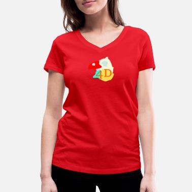 4d color4D - Women's Organic V-Neck T-Shirt by Stanley & Stella