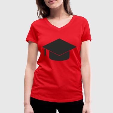 University Of Applied Sciences University of Applied Sciences graduation hat undergraduate - Women's Organic V-Neck T-Shirt by Stanley & Stella