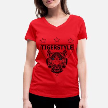 Doggystyle Position TIGER STYLE - Women's Organic V-Neck T-Shirt by Stanley & Stella