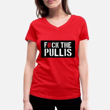 Fun Police Fuck the Police * Sweaters * Fun - Women's Organic V-Neck T-Shirt by Stanley & Stella