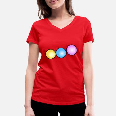 Beads colorful beads - Women's Organic V-Neck T-Shirt by Stanley & Stella