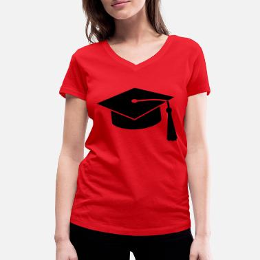 Freedom graduation hat v2 - Women's Organic V-Neck T-Shirt