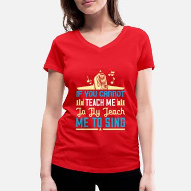 If you cannot teach me to fly - Women's Organic V-Neck T-Shirt