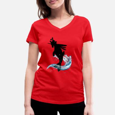 Libcornis Energy creatures Libcornis - Women's Organic V-Neck T-Shirt