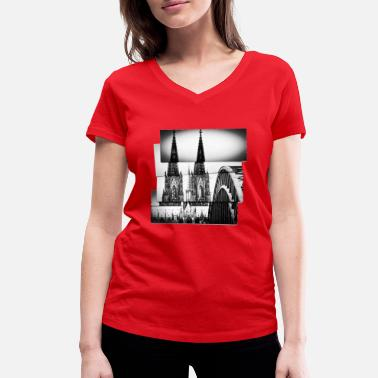 Church Cologne cathedral - Women's Organic V-Neck T-Shirt