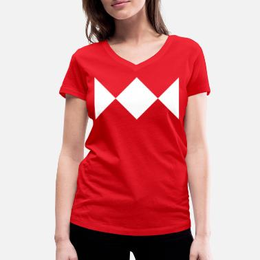 Power Mighty Morphin Power Rangers - MMPR Gift - Women's Organic V-Neck T-Shirt