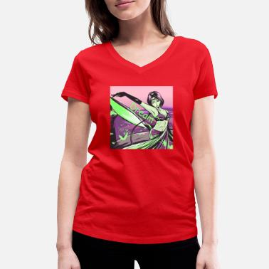 Dream drawing - Women's Organic V-Neck T-Shirt