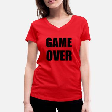 Game Over game over - T-shirt bio col V Femme