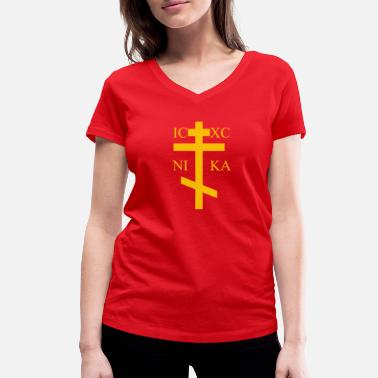 Orthodox Cross Orthodox - Women's Organic V-Neck T-Shirt