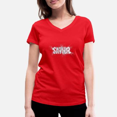 Savior Savior - Women's Organic V-Neck T-Shirt