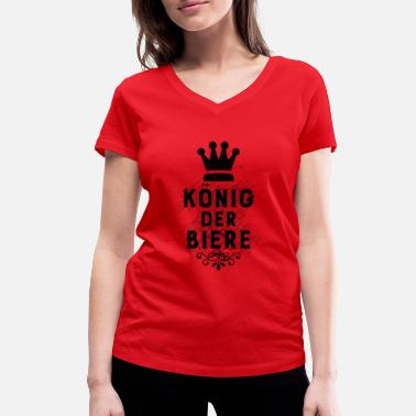 Ølkonge King of Beers - Party Shirt - T-shirt med V-udskæring dame