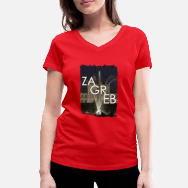 Railway Station railway station - Women's Organic V-Neck T-Shirt