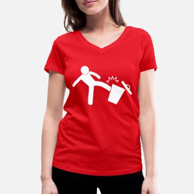 Kick Kick it! - Women's Organic V-Neck T-Shirt