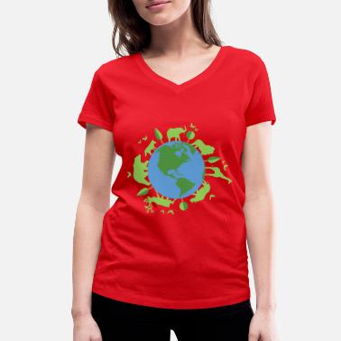 Welfare animal welfare - Women's Organic V-Neck T-Shirt