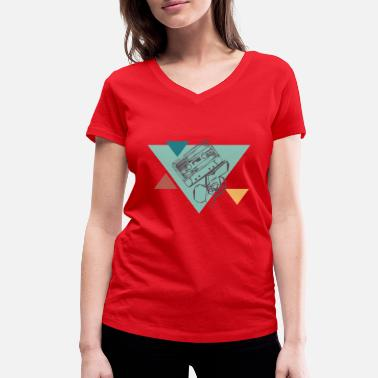 Cassette Tape - Women's Organic V-Neck T-Shirt