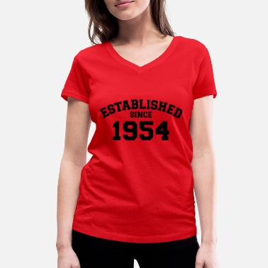 Established Established 1954 - T-shirt bio col V Femme