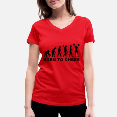 Cheerleading Evolution Cheerleading - Frauen Bio T-Shirt mit V-Ausschnitt