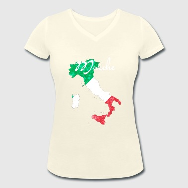 Marche - Women's Organic V-Neck T-Shirt by Stanley & Stella