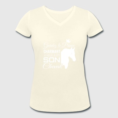 Horse Shirt • Prince Charming • Pony Gifts - Women's Organic V-Neck T-Shirt by Stanley & Stella