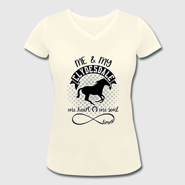 Clydesdale horses - Women's Organic V-Neck T-Shirt by Stanley & Stella