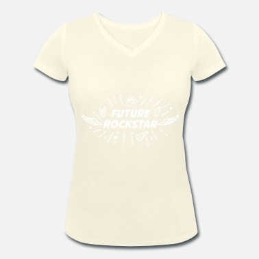 Future Rock Star FUTURE ROCK STAR - Women's Organic V-Neck T-Shirt by Stanley & Stella