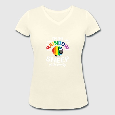 I'm the rainbow sheep of the family - Women's Organic V-Neck T-Shirt by Stanley & Stella