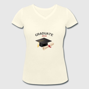 GRADUATE 2019 - Women's Organic V-Neck T-Shirt by Stanley & Stella