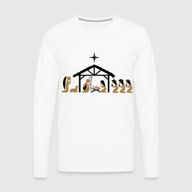 Nativity on Christmas Eve - Men's Premium Longsleeve Shirt