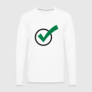 A checkmark - Men's Premium Longsleeve Shirt