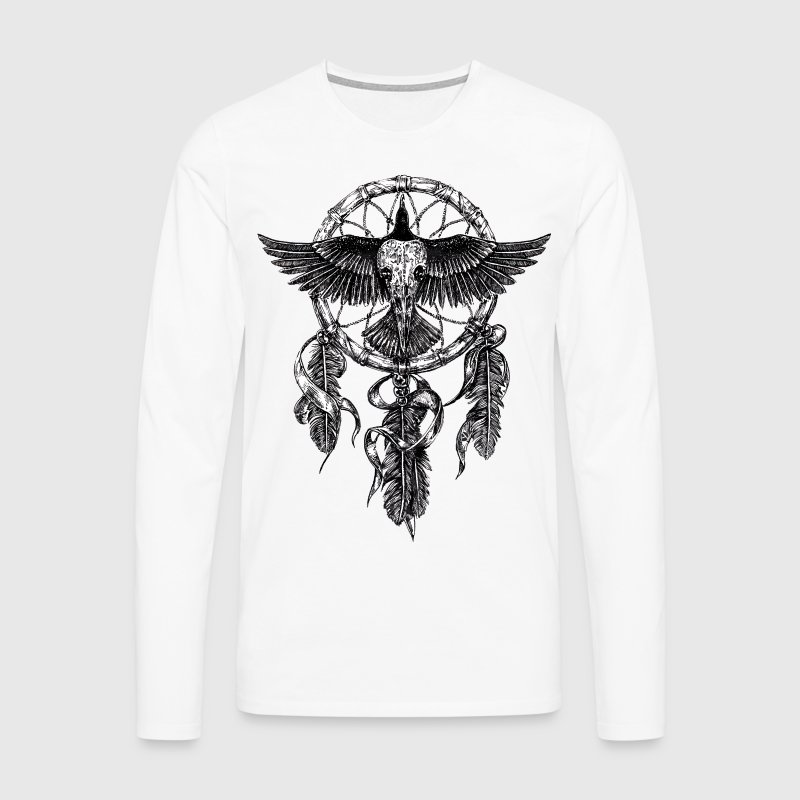 AD Skull Crow Dreamcatcher - Men's Premium Longsleeve Shirt
