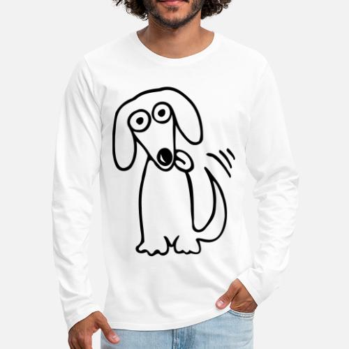 e88119c4 funny cute dog Dachshund Cartoon Cartoon Dogs Fun Men's Premium Longsleeve  Shirt | Spreadshirt