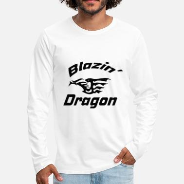 Conflict Dragon, Asian, Chinese, dragon, fantasy - Men's Premium Longsleeve Shirt