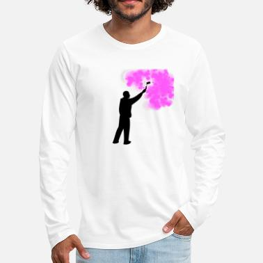 Labour A painter who likes to work with colors - Men's Premium Longsleeve Shirt