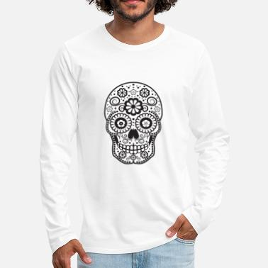 Smiling Sugar Skull - Men's Premium Longsleeve Shirt