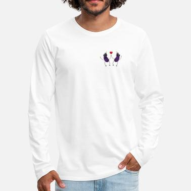 Funny &amp Aubergines who love each other - Men's Premium Longsleeve Shirt