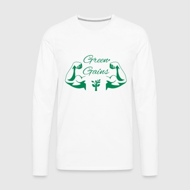 Green Gains - Men's Premium Longsleeve Shirt