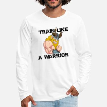 Odin Train Like A Warrior | Viking Training Fitness - Men's Premium Longsleeve Shirt