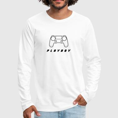Witty Controller with witty lettering - Men's Premium Longsleeve Shirt