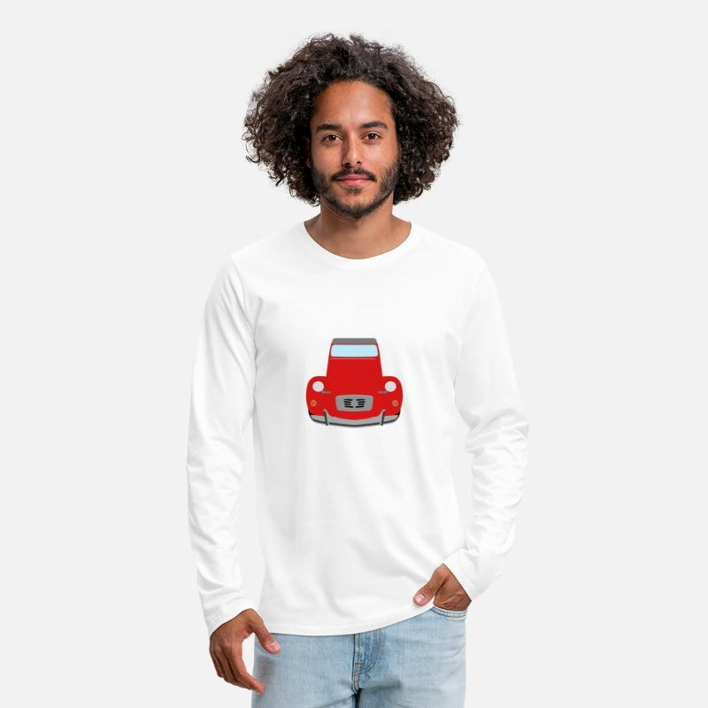 Cv Long sleeve shirts - 2cv red - Men's Premium Longsleeve Shirt white