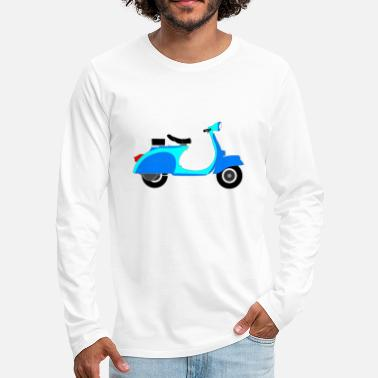 Scooter Blue Scooter - Men's Premium Longsleeve Shirt